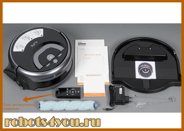 робот пылесос ilife w400 для влажной уборки